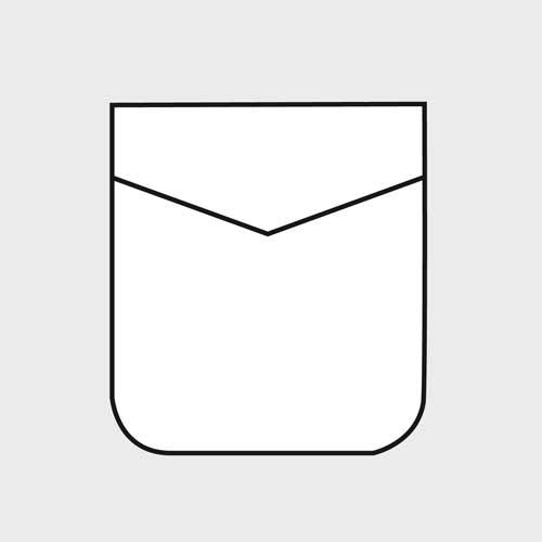 Taschino arrotondato con punta